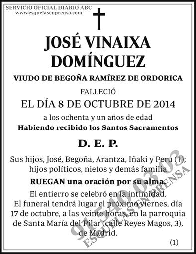 José Vinaixa Domínguez